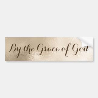 Autocollant De Voiture Chrétien par la Grâce de Dieu