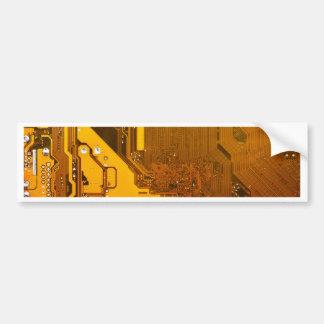 Autocollant De Voiture circuit électronique jaune board.JPG