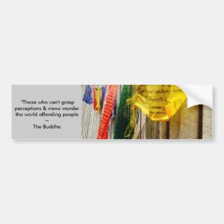 Autocollant De Voiture Citation bouddhiste des drapeaux w/long de prière