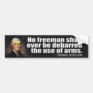 Autocollant De Voiture Citation de Thomas Jefferson sur le 2ème