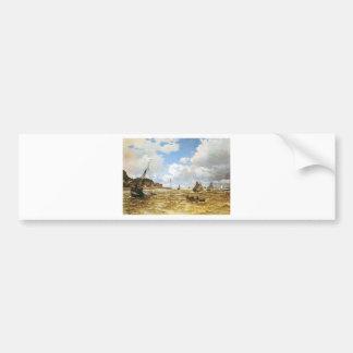 Autocollant De Voiture Claude Monet - bouche de l'illustration de la
