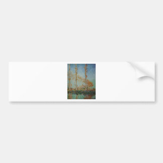Autocollant De Voiture Claude Monet - l'illustration de peupliers