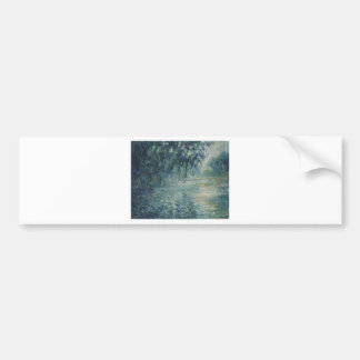 Autocollant De Voiture Claude Monet - matin sur l'oeuvre d'art de la