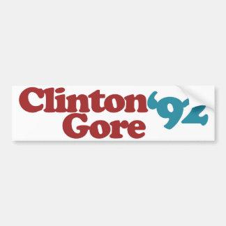 Autocollant De Voiture Clinton Gore 1992