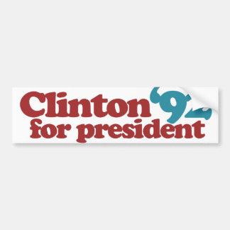 Autocollant De Voiture Clinton Gore 92