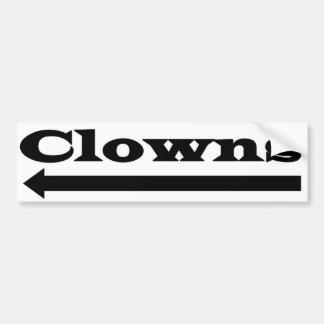 Autocollant De Voiture Clowns gauches