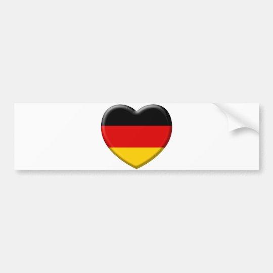 Autocollant De Voiture Coeur drapeau Allemand j'aime l'Allemagne