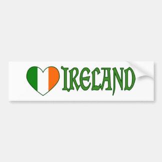 Autocollant De Voiture Coeur irlandais Irlande de drapeau
