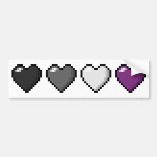 Autocollant De Voiture Coeurs asexuels de pixel