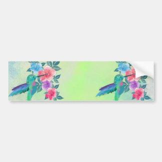 Autocollant De Voiture Colibri à la mode mignon frais de couleurs pour