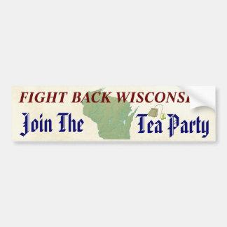 Autocollant De Voiture Combattez de retour le Wisconsin joignent le thé