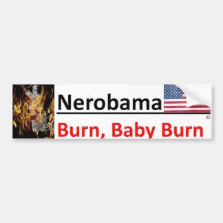 Autocollant De Voiture Comme Nero, Obama est jouer/jouant au golf car les