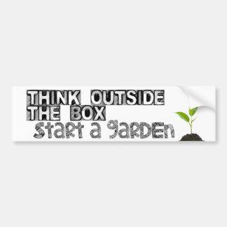 Autocollant De Voiture Commencez un jardin !