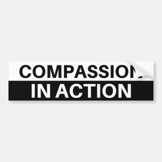 Autocollant De Voiture Compassion dans l'action - adhésif pour pare-chocs