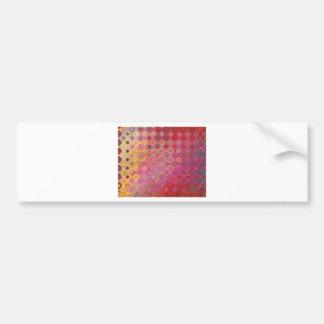 Autocollant De Voiture Conception abstraite rose de motif de remous