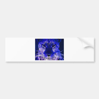 Autocollant De Voiture conception bleue de fractale de guépard