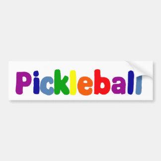 Autocollant De Voiture Conception colorée d'art de Pickleball