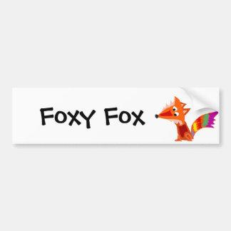 Autocollant De Voiture Conception colorée géniale d'art de Fox rouge