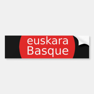 Autocollant De Voiture Conception de langue Basque