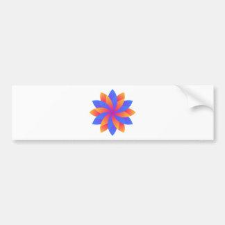 Autocollant De Voiture Conception de logo de feuille de fleur