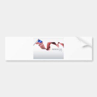 Autocollant De Voiture Conception de ruban de drapeau américain