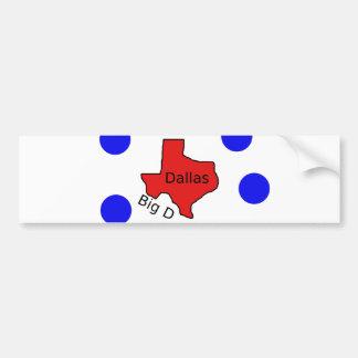 Autocollant De Voiture Conception de ville de Dallas, le Texas (grand D)