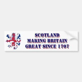 Autocollant De Voiture Conception écossaise patriotique de Jack des