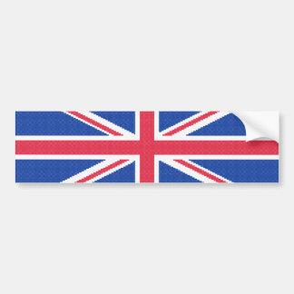 Autocollant De Voiture Conception originale Union Jack de point de croix