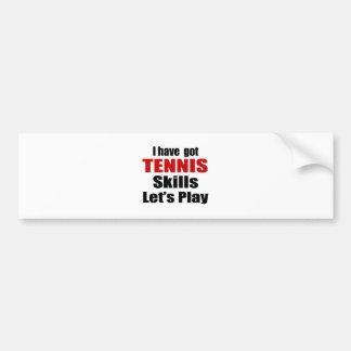AUTOCOLLANT DE VOITURE CONCEPTIONS DE QUALIFICATIONS DE TENNIS