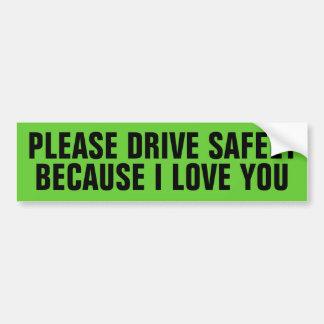 Autocollant De Voiture conduisez sans risque