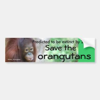 Autocollant De Voiture Conservation animale de faune