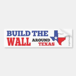 Autocollant De Voiture Construisez le mur autour du Texas
