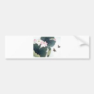 Autocollant De Voiture Cool asiatique d'art de papillon de fleur de rose