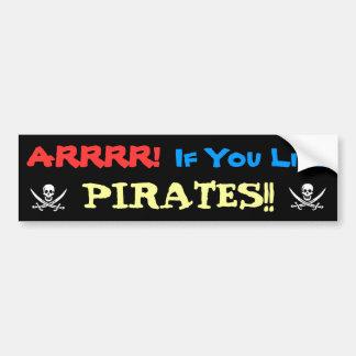 Autocollant De Voiture Cornement pour des pirates !