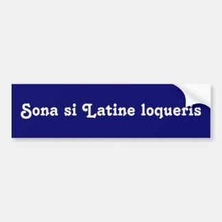 Autocollant De Voiture Cornez si vous parlez le latin