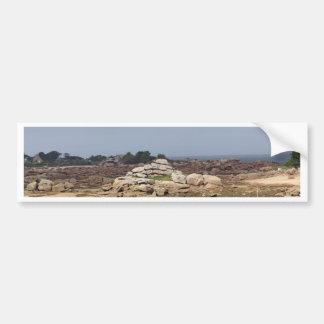 Autocollant De Voiture Côte rose de granit en Bretagne