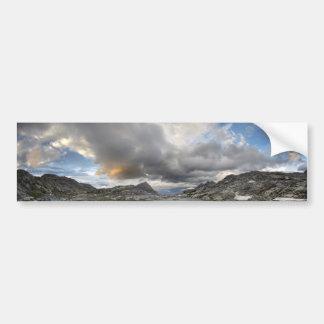 Autocollant De Voiture Coucher du soleil au lac moyen Nydiver - sierra