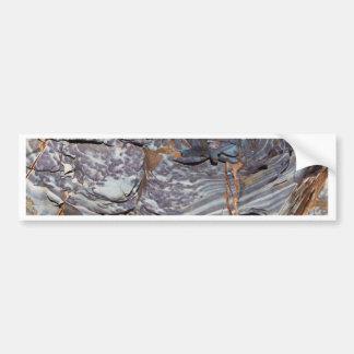 Autocollant De Voiture Couches naturelles d'agate dans un grès