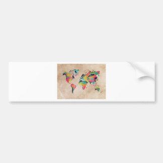 Autocollant De Voiture couleurs de carte du monde