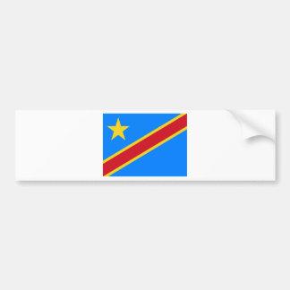 Autocollant De Voiture Coût bas ! Drapeau du Congo