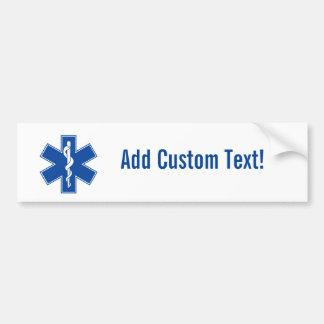 Autocollant De Voiture Coutume de symbole d'infirmier d'EMT