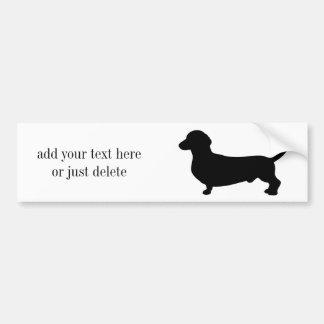 Autocollant De Voiture Coutume noire mignonne de silhouette de chien de