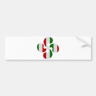 Autocollant De Voiture Croix Basque Multicouleurs