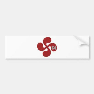 Autocollant De Voiture Croix basque rouge 64 Lauburu
