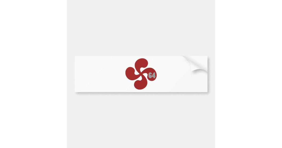 autocollant de voiture croix basque rouge 64 lauburu. Black Bedroom Furniture Sets. Home Design Ideas