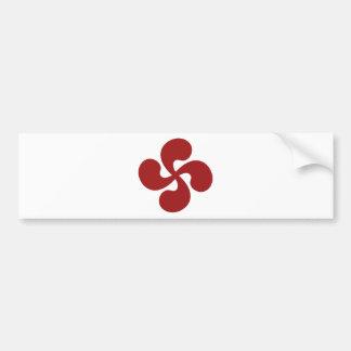 Autocollant De Voiture Croix Basque Rouge Lauburu