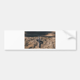 Autocollant De Voiture croix et sable