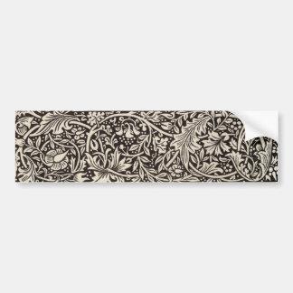 Autocollant De Voiture Cru floral de motif de jonquille de William Morris