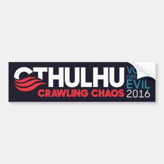 Autocollant De Voiture Cthulhu/Nyarlathotep pour le président 2016