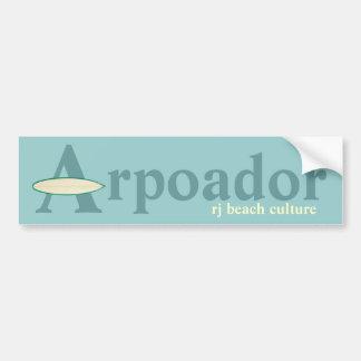 Autocollant De Voiture Culture de plage de RJ d'Arpoador